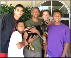 Williams Family with (Brig x Garth) female.